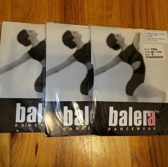 Lot of 3 Balera Convertible Dance Tights